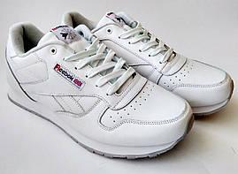 Кожаные кроссовки Reebok classic 41-46 размеры (реплика), белые кроссовки, кроссовки рибок, подошва пена