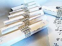 Свадебное приглашение Signet (белые с серебром)