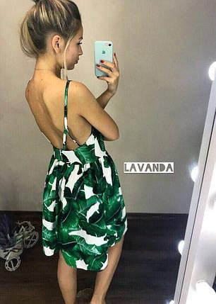 Платье летнее зеленые листья, фото 2
