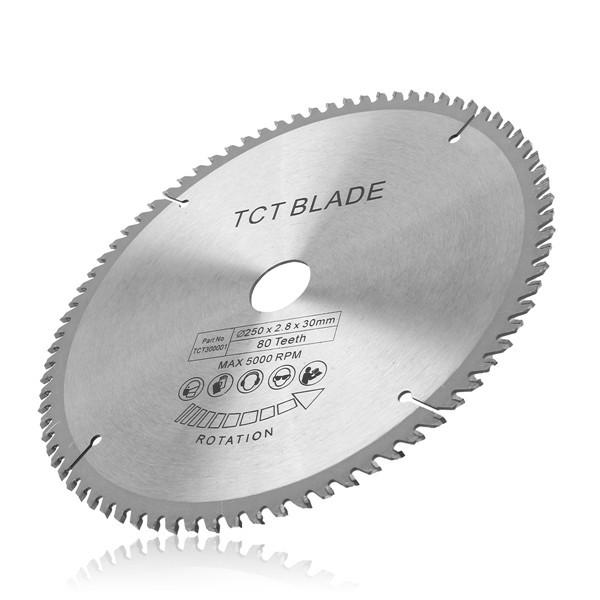 250 мм 80T Высокоскоростная стальная лента с круглым пильным диском TCT 30 мм для 255 мм пил 1TopShop