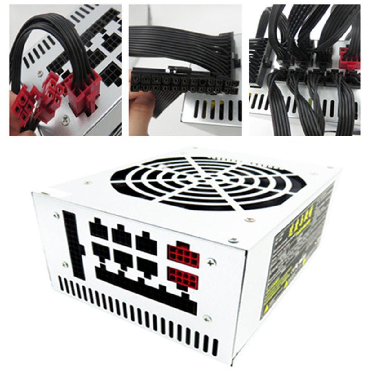 1800 Вт ATX PSU Switching Модульный источник питания для Eth Rig Ethereum BTC Miner 1TopShop