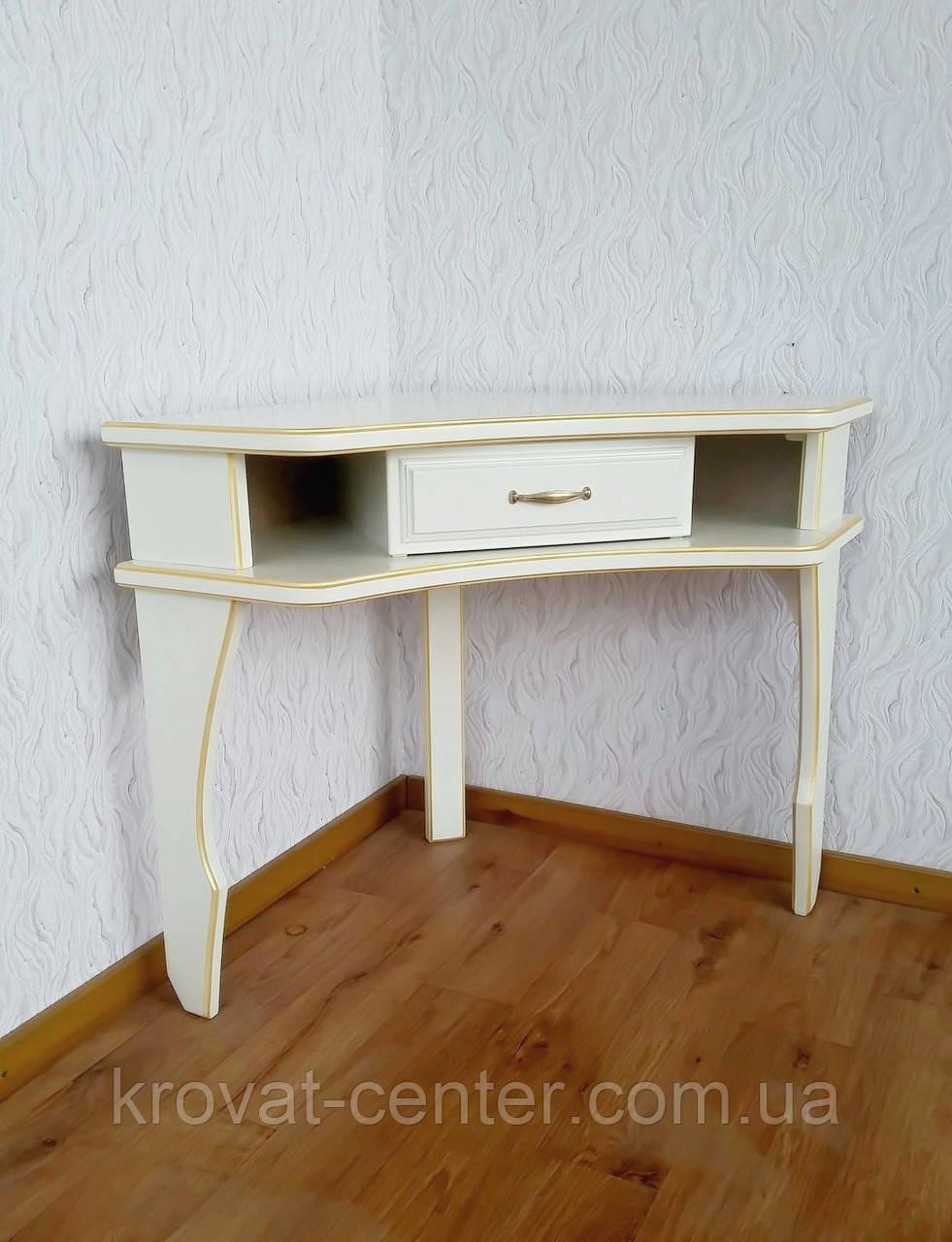 """Белый угловой столик """"Дарина"""""""