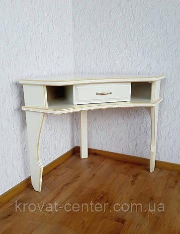 """Белый туалетный столик """"Дарина"""" угловой, фото 2"""