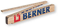 Метр складной деревянный BERNER, 2 м