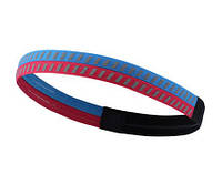 Спортивная повязка на голову Twist синяя с красным со светоотражающими элементами