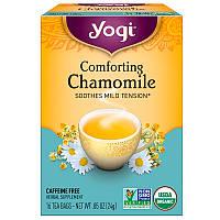 Yogi Tea, Успокаивающая ромашка, не содержит кофеин, 16 чайных пакетиков, .85 унций (24 г), фото 1