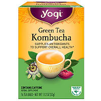 Комбуча (чайный гриб), Green Tea Kombucha, Yogi Tea, 16 пакетов, 32 г