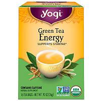Комбуча (чайный гриб), Green Tea Energy, Yogi Tea, 16 пакетов, 32 г