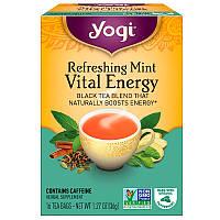 Yogi Tea, Жизненная энергия, освежающая мята, 16 чайных пакетиков, 1,27 унции (36 г)