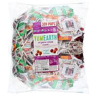 Конфеты-леденцы на палочке с витамином С, Ассорти, Yummy Earth, 324 шт