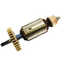 Якорь тст-н дисковой электропилы Зенит ЗПЦ-1800 Профи, Протон ПД-185, Stern CS-210 (43*174 мм, Z6 вправо)