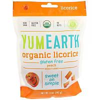 Жевательные конфеты со вкусом персика, Peach Licorice, YumEarth, 142 г