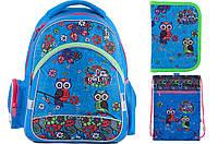 Набор школьный Kite(Рюкзак+сумка+пенал) Pretty owls K18-521S-1