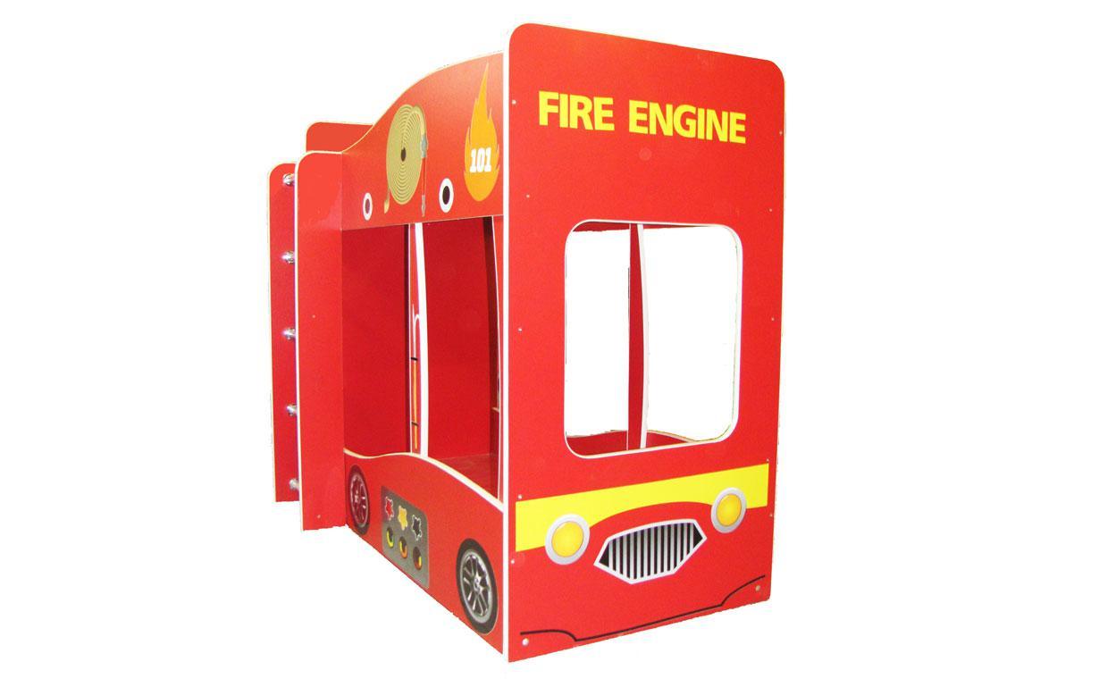 ✅Двухъярусная Кровать Пожарная машина 80х170 см ТМ Viorina-Deko