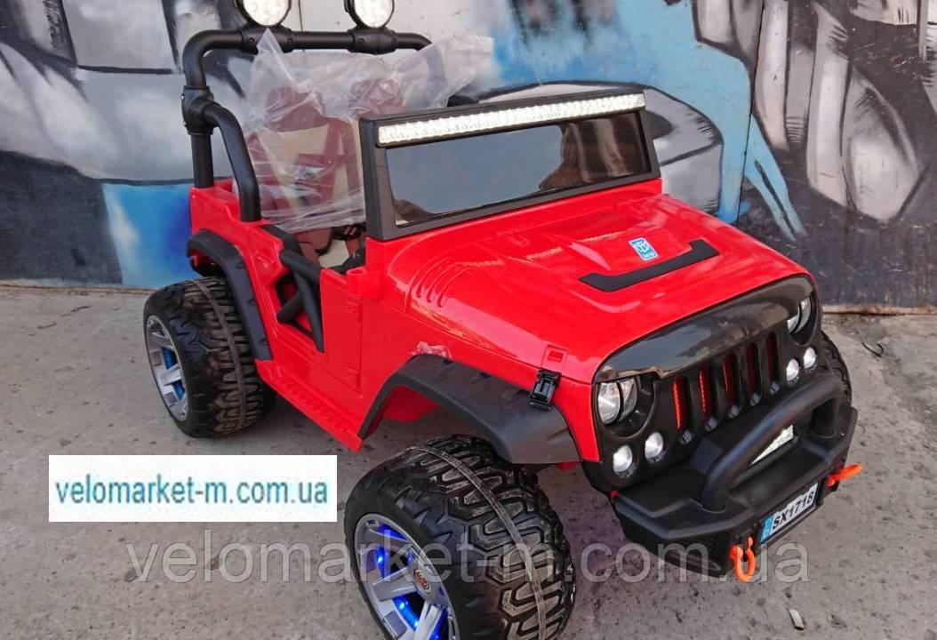 Електромобіль Jeep Wrangler двомісний,10А,сервокермо