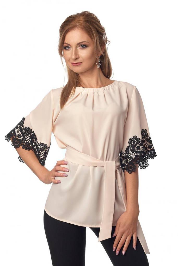 Женская Блуза, цвет: бежевый
