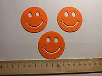 Термоаппликация клеевая оранжевый smile