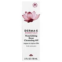 Derma E, Питающее и очищающее розовое масло, с маслами арганы и жожоба