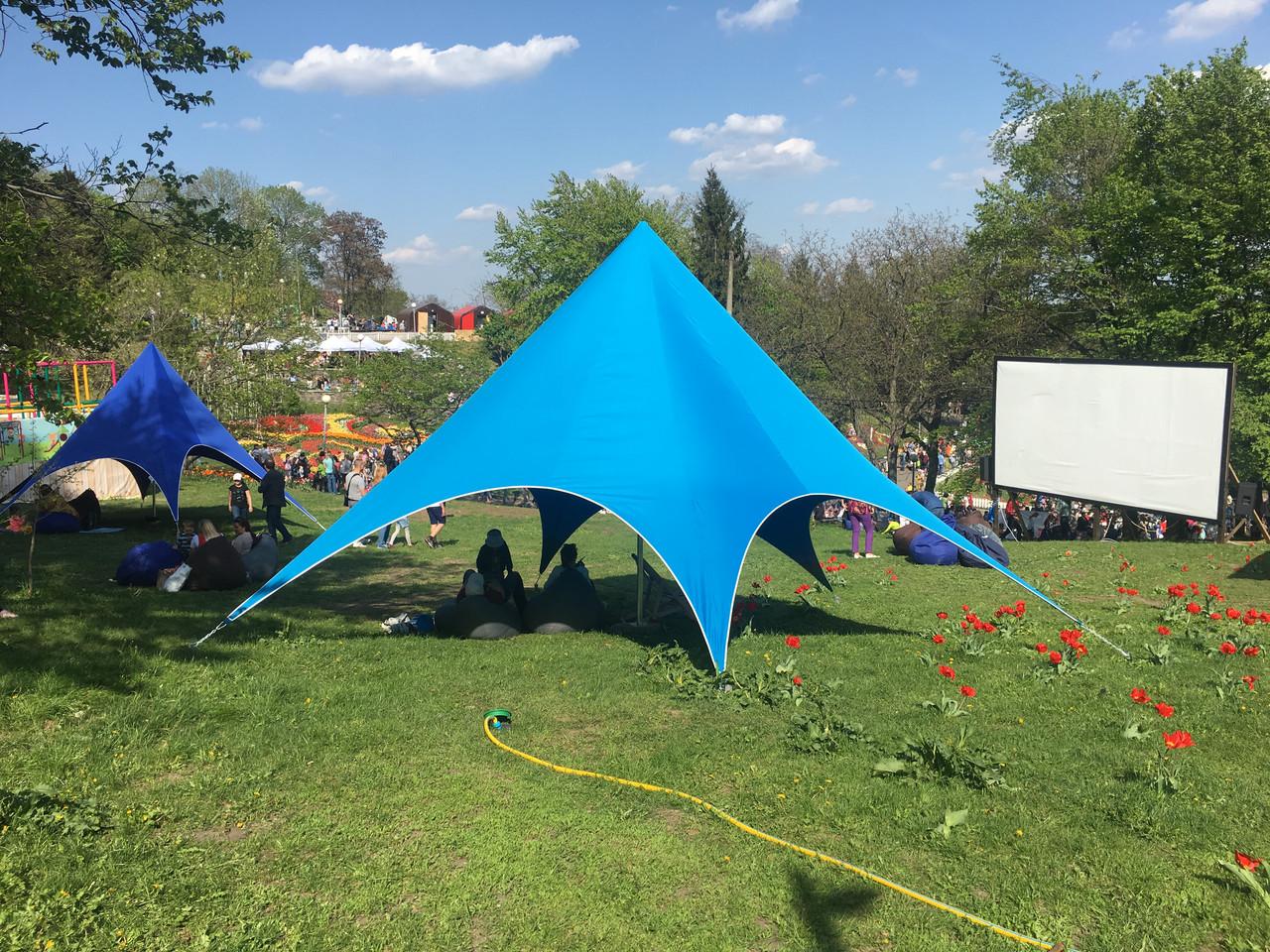 Аренда палатки на 10 человек - Звезда 8метровая