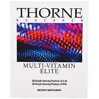 Thorne Research, Элитный мультивитаминный комплекс, 30 пакетиков для приема утром, 30 пакетиков для приема вечером