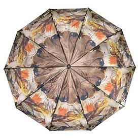 Зонт складной автомат Коричневый абстракция