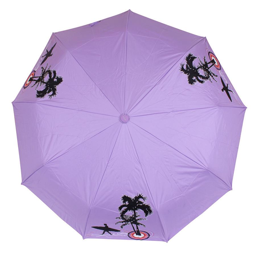 Зонт складной полуавтомат Фиолетовый пляж