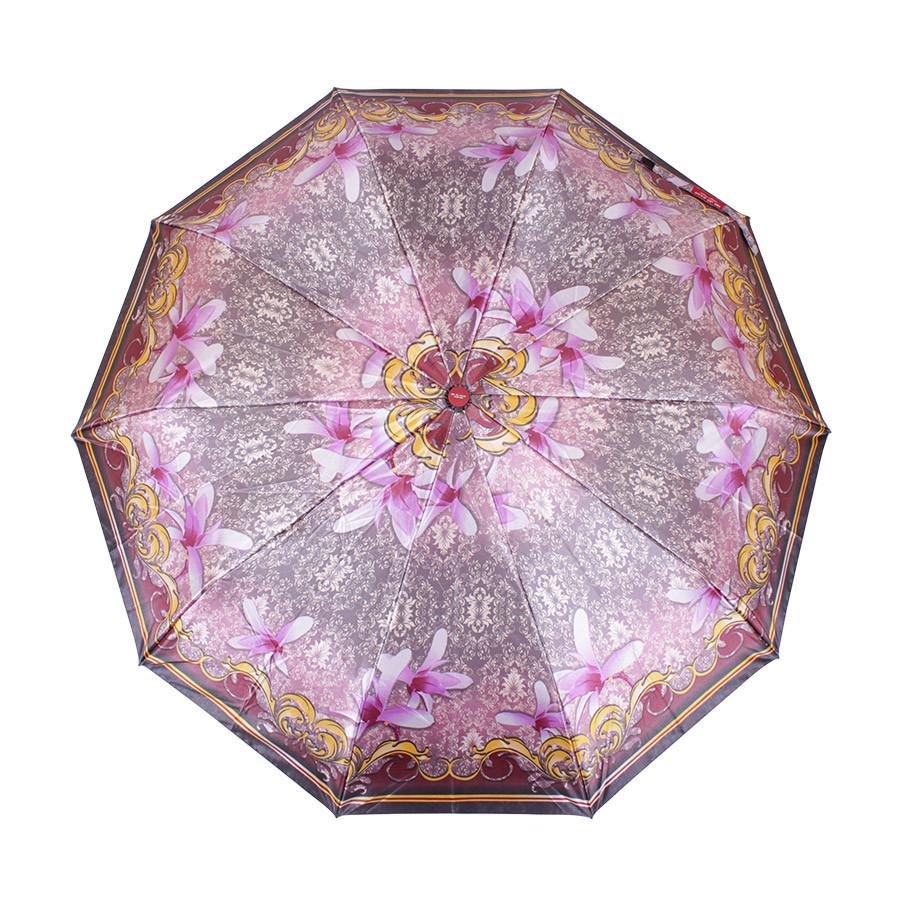 Зонт розовый складной автомат