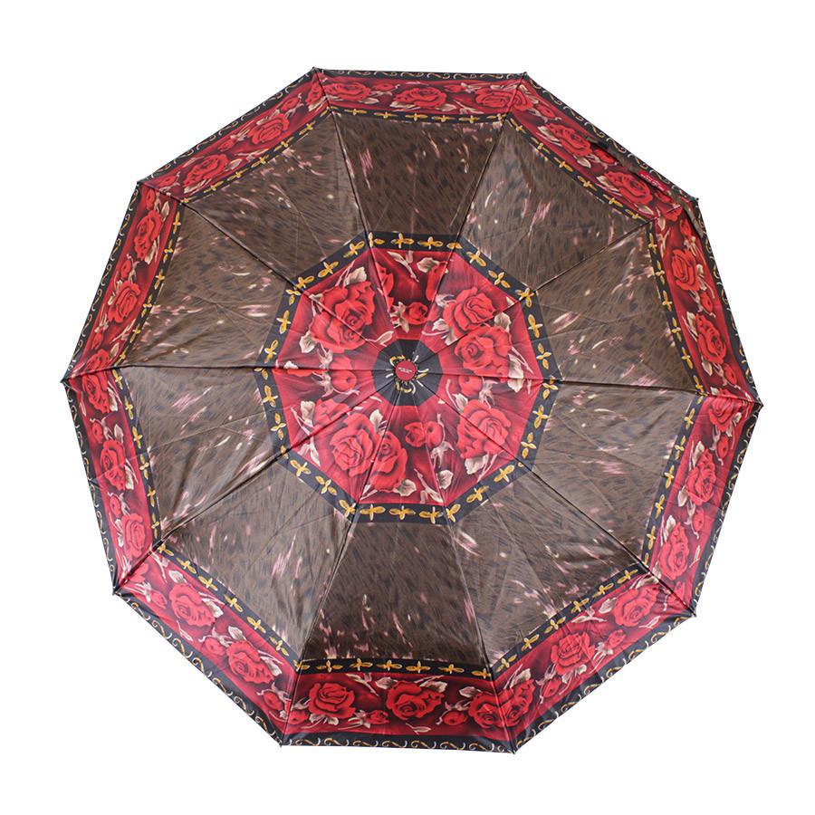 Зонт складной автомат Коричневый