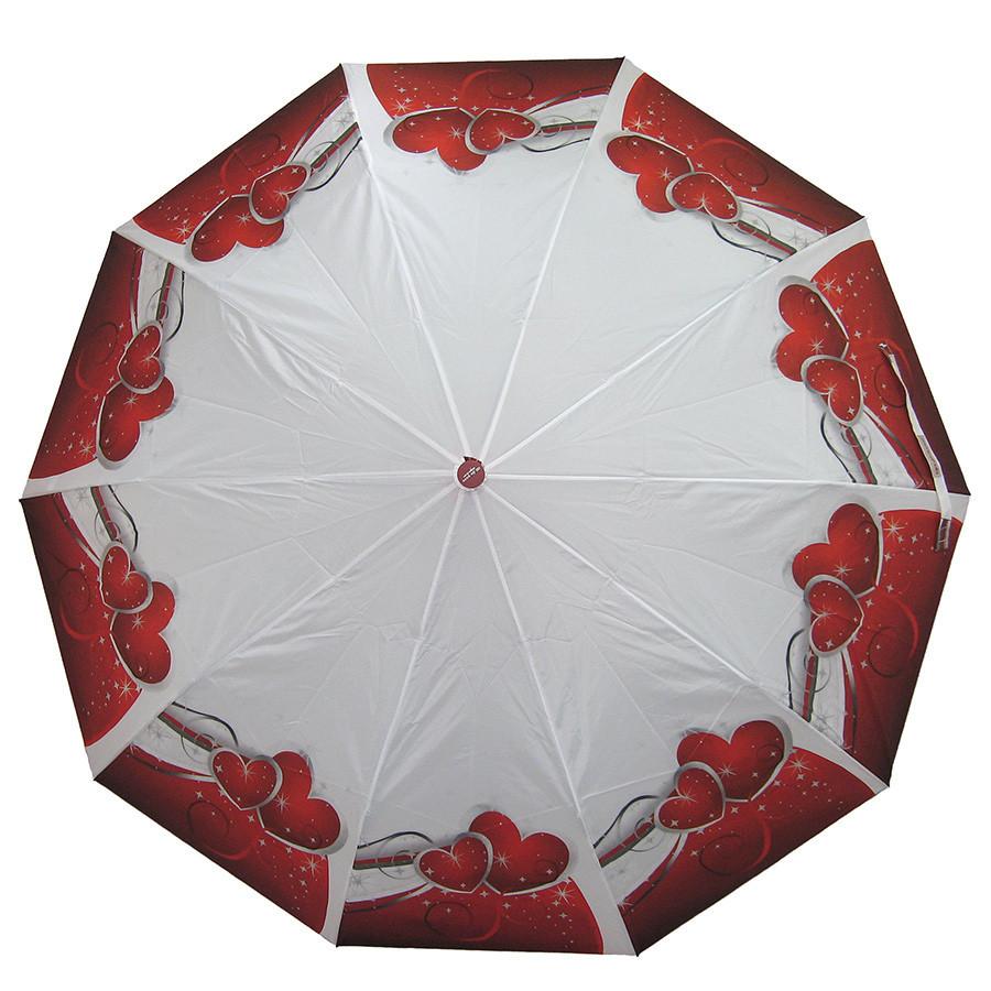 Зонт складной полуавтомат Сердца