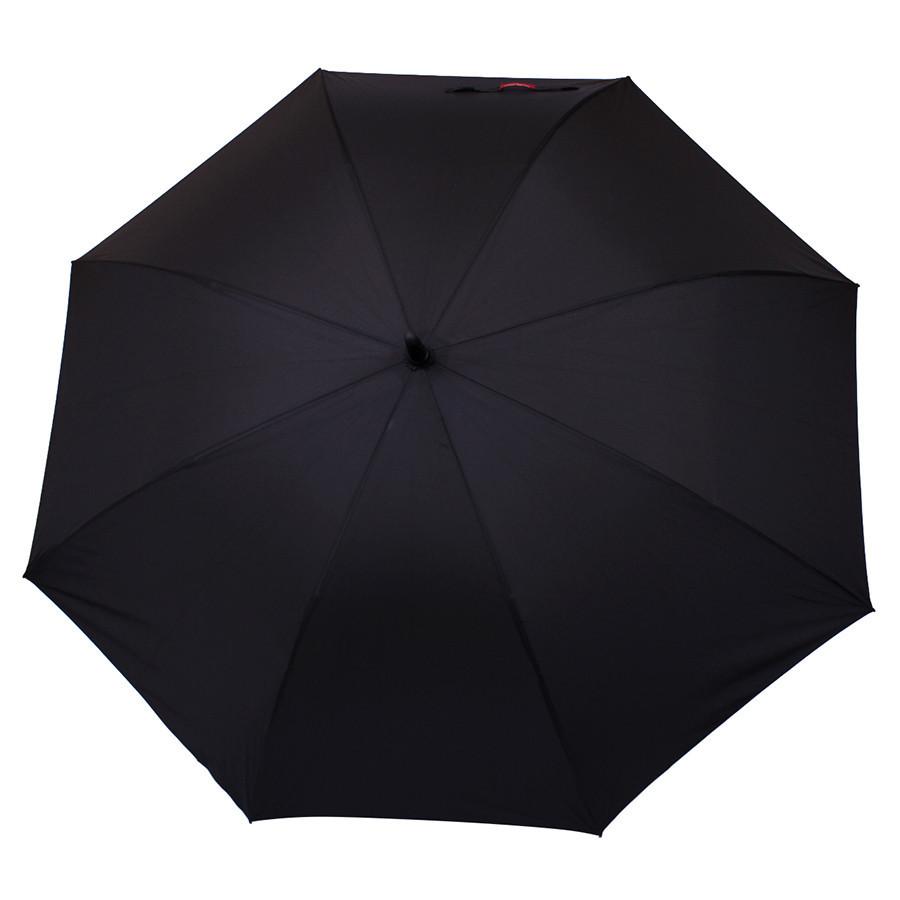 Черный зонт-трость полуавтомат