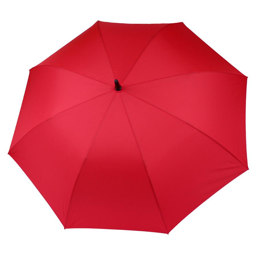 Красный зонт-трость полуавтомат
