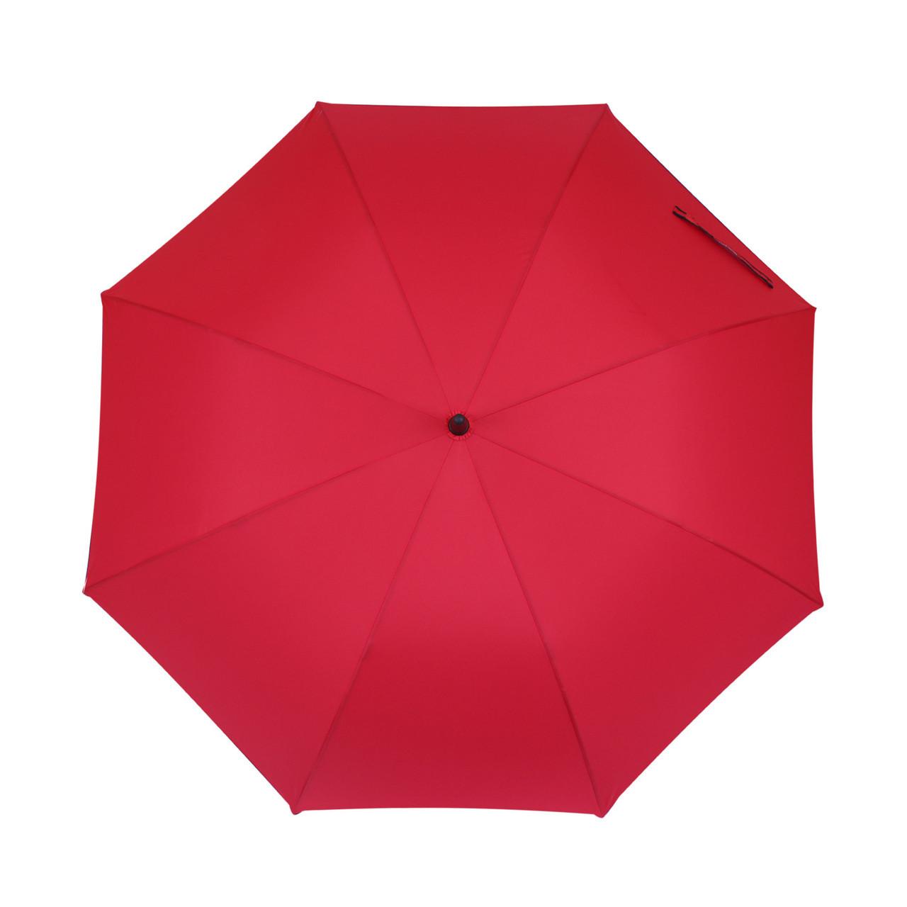 Зонт-трость красный полуавтомат