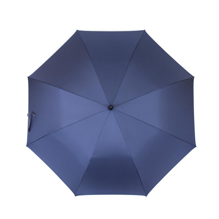 Зонт-трость синий полуавтомат