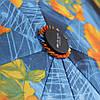 Зонт складной  полуавтомат Сине-черный, фото 4