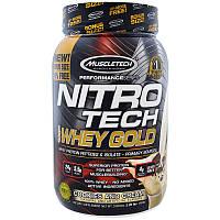 Muscletech, Nitro Tech 100%-ный Сывороточный Золотой Белок, Печенье с Кремом, 1,00 фунта (454 г), фото 1