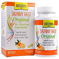 Natural Balance, Skinny Fast, оригинал, Быстрое похудение, 90 вегетарианских капсул