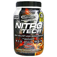 Muscletech, Nitro-Tech, Сывороточный Изолят + Стимулятор Роста Мышц, Decadent Брауни-Чизкейк, 2,00 унции ( (907 г)