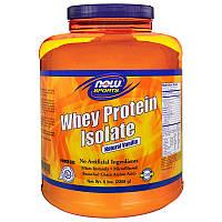 Now Foods, Спорт, Изолят Сывороточного Протеина, Натуральная Ваниль, 5 фунтов. (2268 г), фото 1