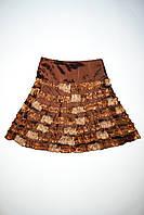 Детская юбка коричневая , фото 1