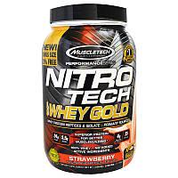 Muscletech, Nitro Tech 100%-ный Сывороточный Золотой Белок, Клубника, 1,00 фунта (454 г), фото 1