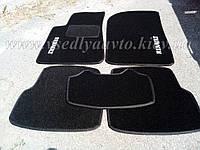 Ворсовые коврики в салон RENAULT Laguna 3 с 2007 г.(Чёрные)