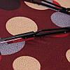 Зонт складной  полуавтомат Бордовый с кругами, фото 5