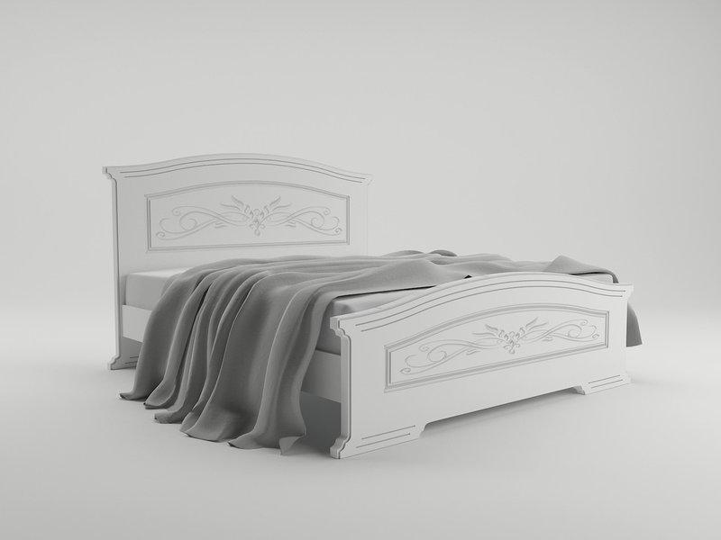 Ліжко з ДСП/МДФ  з висувними шухлядами в спальню Інесса 140*200 Неман