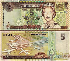 Фиджи / Fiji Islands 5 Dollars (2002) Pick105b UNC