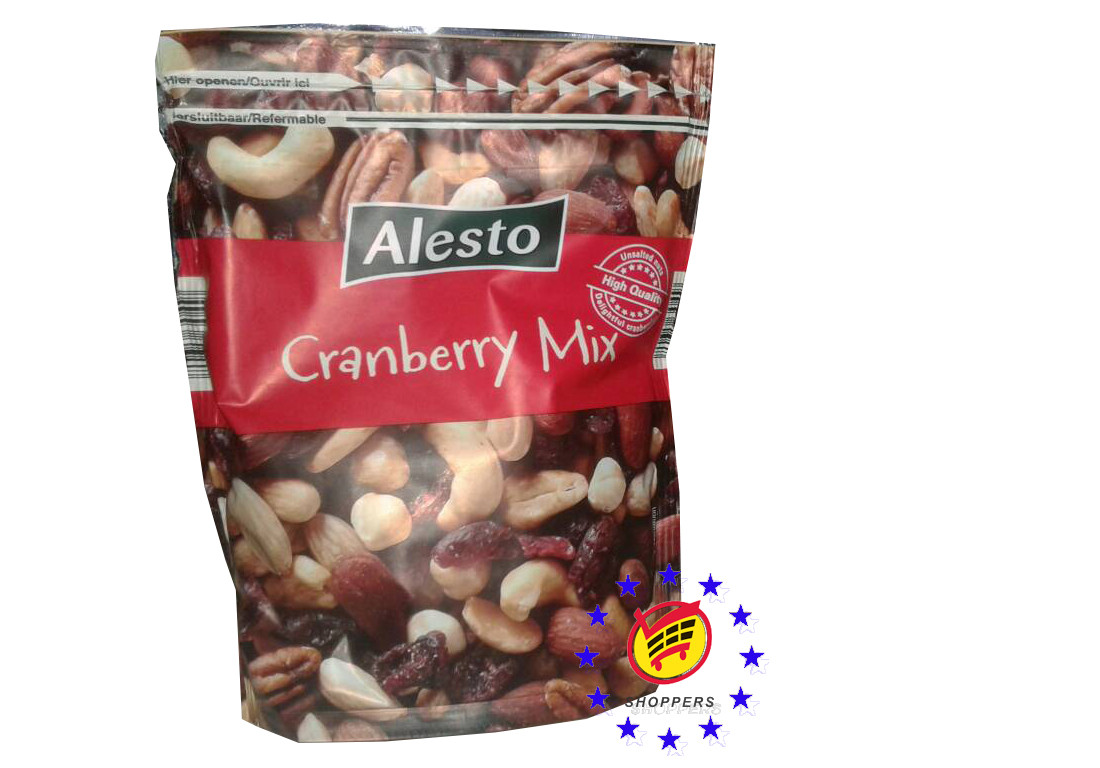 Alesto Cranberry Mix кешью, пекан, миндаль и клюква, 200 г.