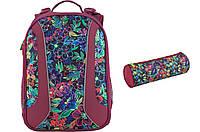 Набор школьный Kite(Рюкзак+пенал) Flowery K18-703M-2