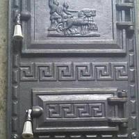"Дверца печная спаренная чугунная ""Илиада"" 380*520 мм (вес - 16 кг)"