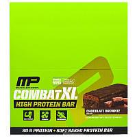 Muscle Pharm, Combat XL Батончик с Высоким Содержанием Белка, Шоколадное Печенье, 12 батончиков, 38 унций (1080 г), фото 1