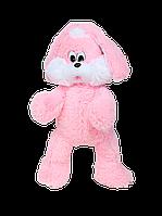 """Плюшевый зайчишка """"Снежок"""" (розовый) 65 см."""