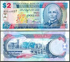 Барбадос / Barbados 2 Dollars 2007 Pick 66a UNC